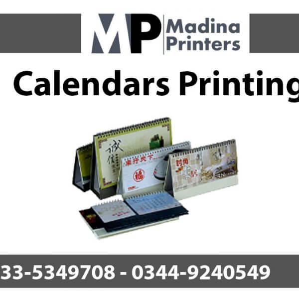 Calendars printing in islamabad and Rawalpindi