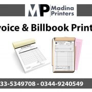 Invoice printing in islamabad and Rawalpindi