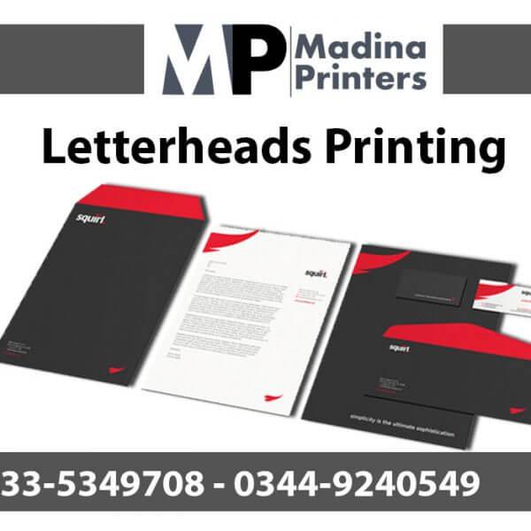 Letterhead printing in islamabad and Rawalpindi