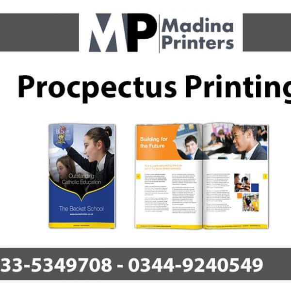 procpectus printing in islamabad and Rawalpindi