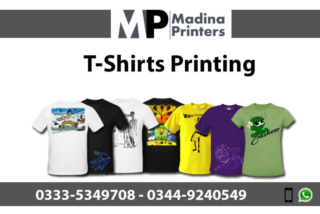 T-shirt printing in islamabad and Rawalpindi